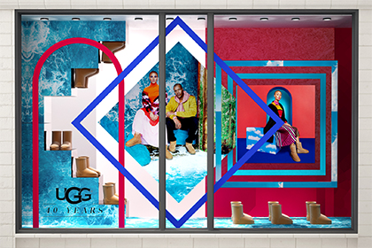 UGG 40th Anniversary Campaign | Selfridges Windows Display 6 | Prop Studios
