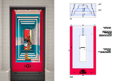 UGG 40th Anniversary Campaign | Selfridges Windows Display 7 | Prop Studios