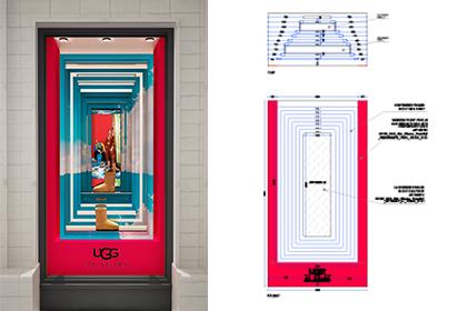 UGG 40th Anniversary Campaign | Selfridges Windows Display 7 | Prop Studios