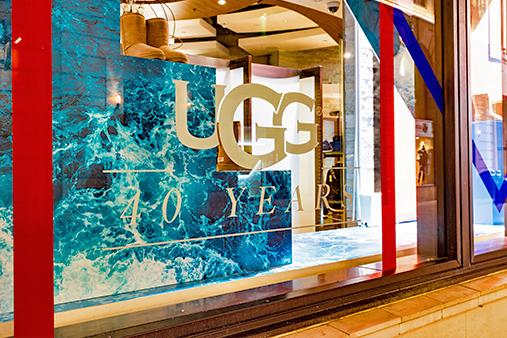 UGG 40th Anniversary Campaign | Selfridges Windows Display 1 | Prop Studios