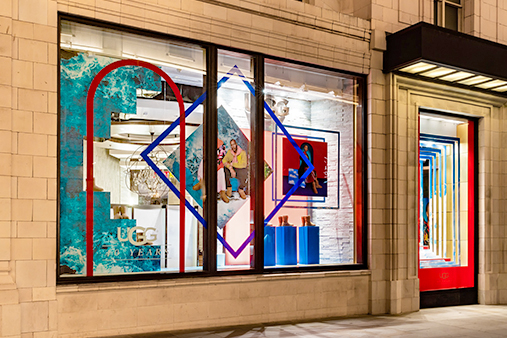 UGG 40th Anniversary Campaign | Selfridges Windows Display 2 | Prop Studios