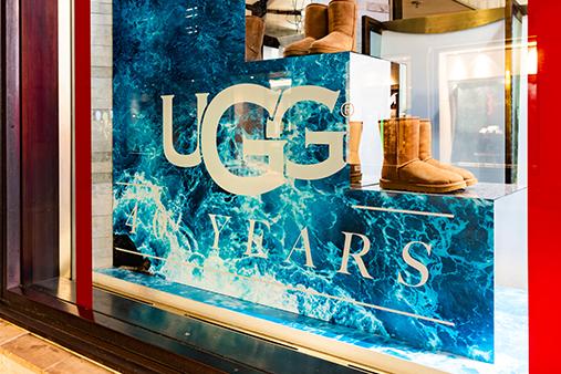 Ugg window display visual merchandising