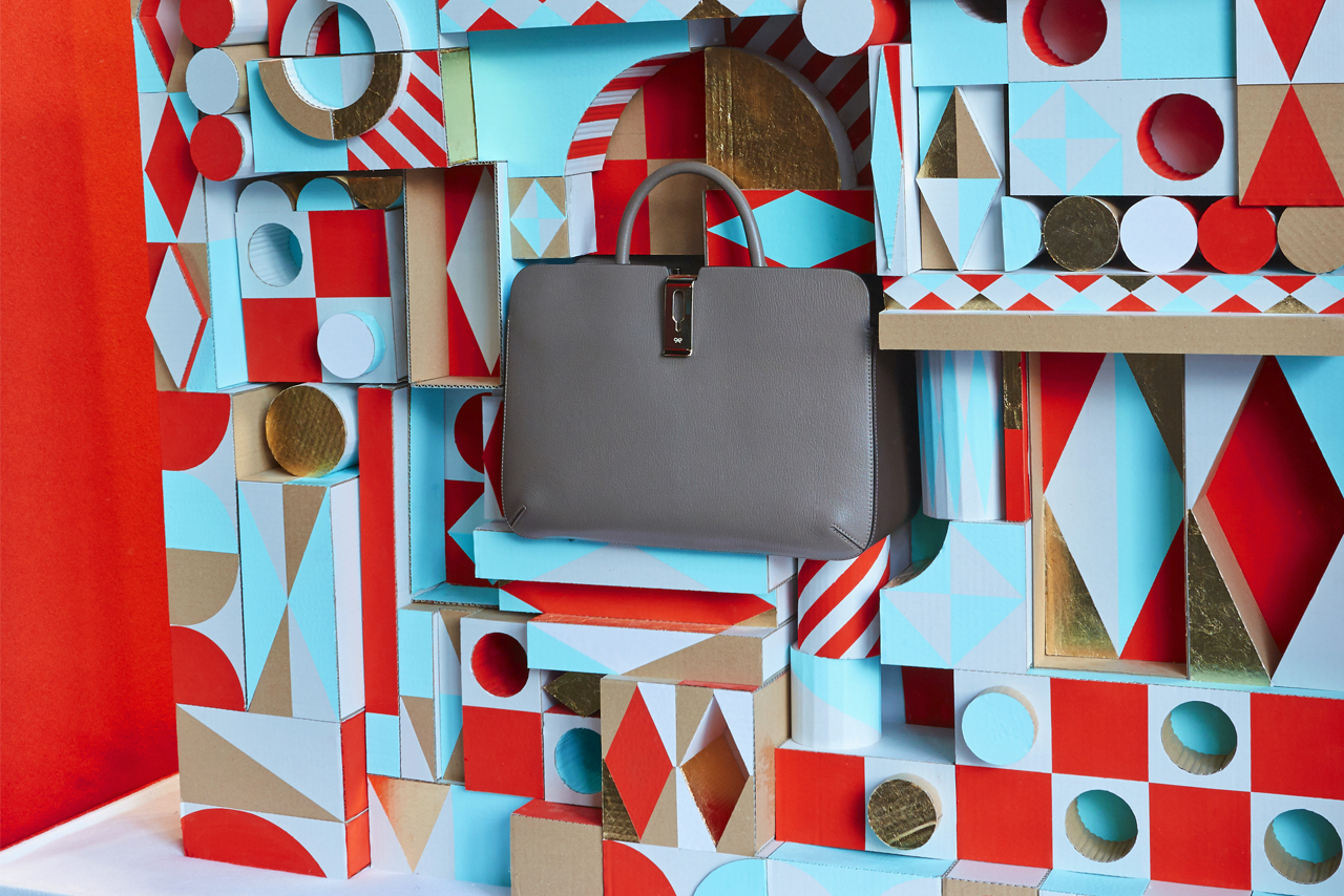 Prop Studios' window design provided an eye-catching backdrop to the new Anya Hindmarch collection
