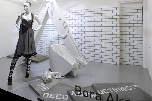 Prop Studios designed a giant digger arm and a huge metal turbine wheel for this award-winning Selfridges window scheme