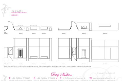 Prop Studios' full design blueprint for the Paul Smith window scheme