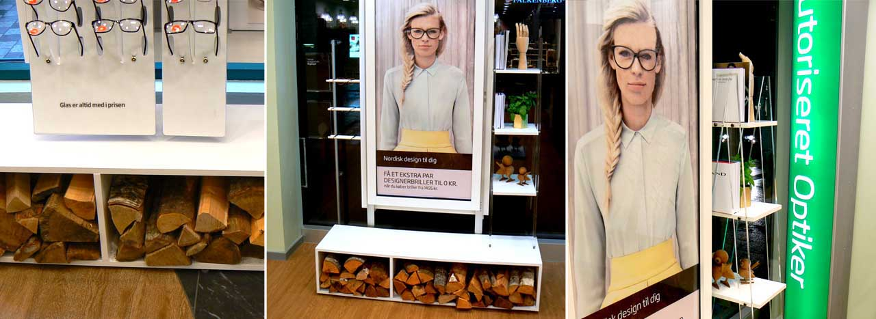 Multi-angle image of Prop Studios' bespoke window scheme for Specsavers