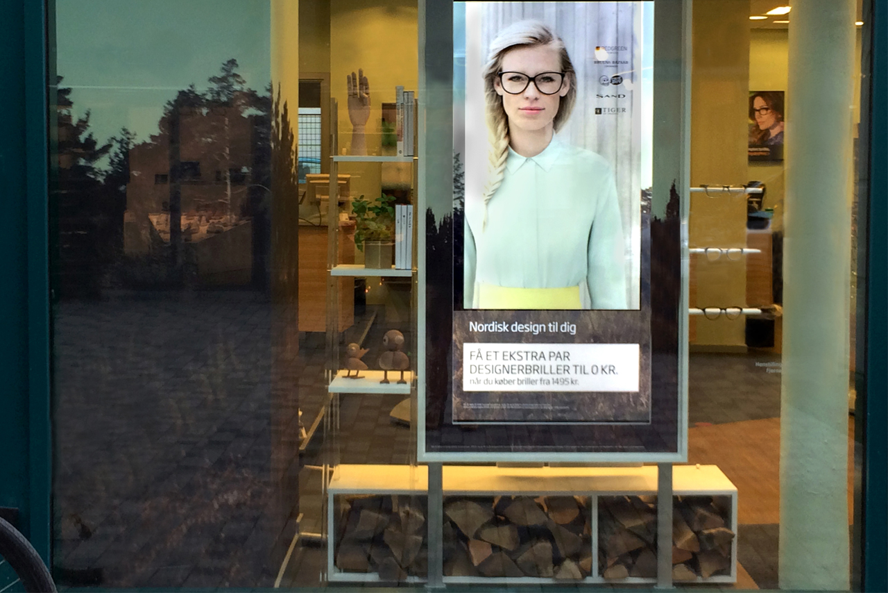 Exterior image of Prop Studios' window designs for Specsavers