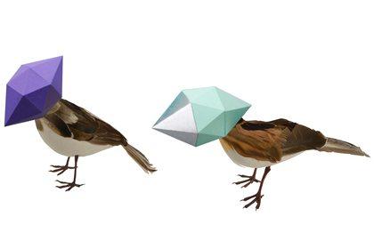Prop Studios' original 3D computer render of the bird sculptures created for Ted Baker