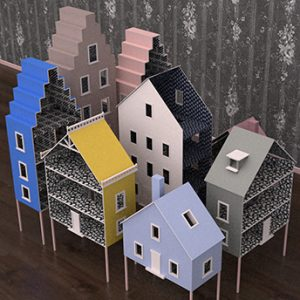Prop Studios created a series of intricately-designed dollhouses exclusively for Mulberry