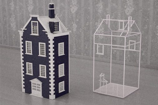 Prop Studios created dollhouses for Mulberry with intricate designs as well as wire frames