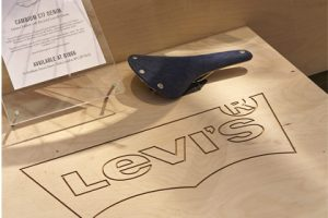 Close-up image of one of the Levi's plinths, created exclusively for the brand by Prop Studios