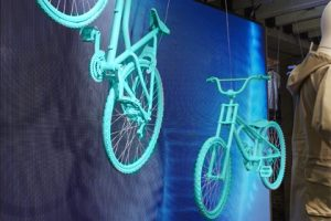 Prop Studios' visual merchandising scheme culminated with a LED screen displaying Levi's Spring Campaign and information on the technology behind the line