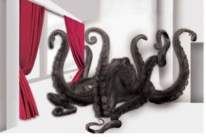 Artist's rendering of the octopus sculpture
