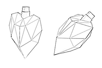Prop Studios line drawing design for the bottles