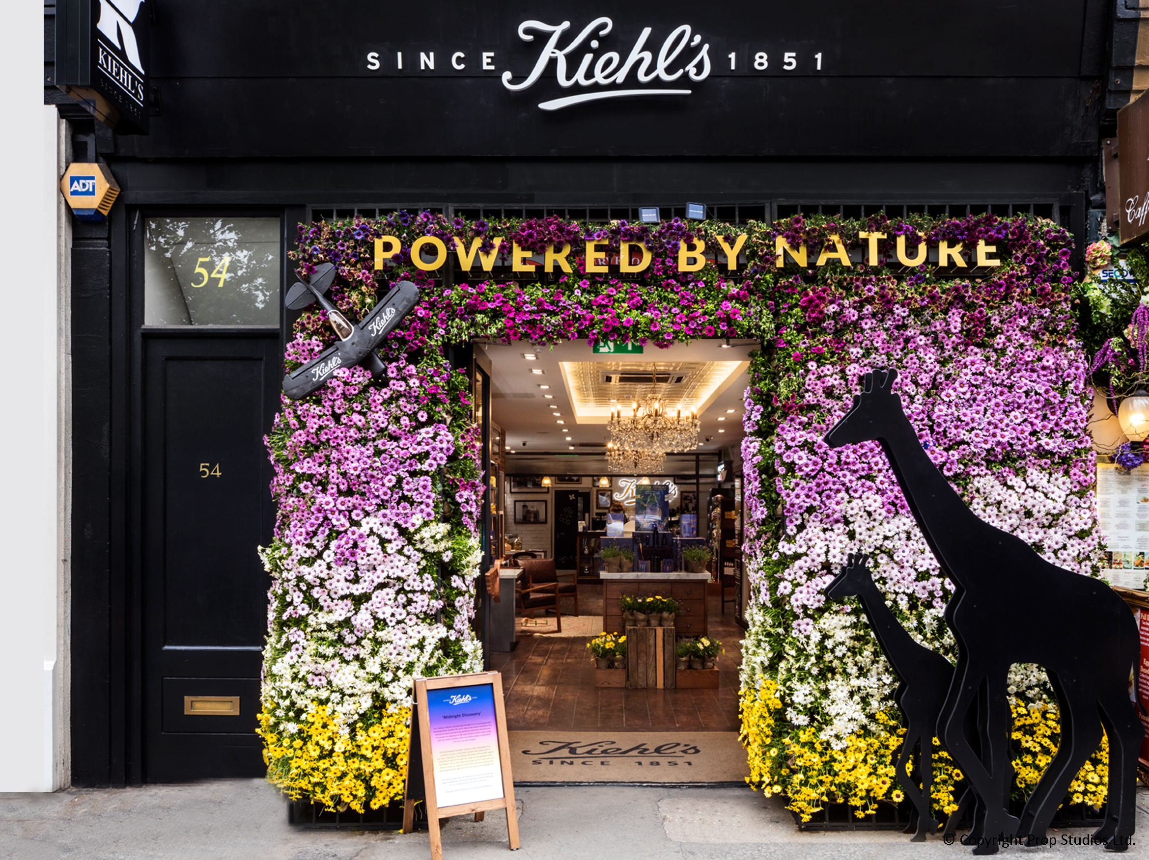 Kiehl's Chelsea In Bloom front window display by Prop Studios
