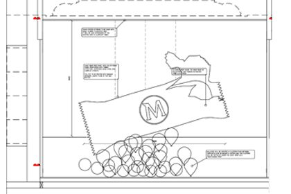 Prop Studios' blueprint for the unwrapped Magnum window