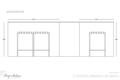 Technical outline of the layout of Oliver Sweeney's Manchester store
