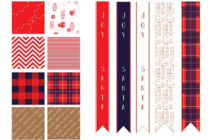 Prop Studios also designed a series of wrapping papers and ribbons to be displayed throughout the Hyundai department store