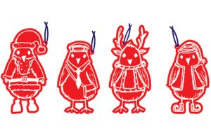 Image showing Prop Studios' bespoke designs for four gift tags to be displayed within the Hyundai store