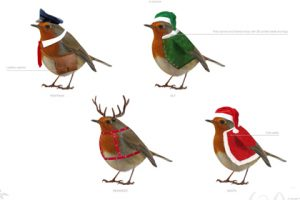 Four robins, designed exclusively for Hyundai by Prop Studios, creating a visual throughline across the entire visual merchandising scheme