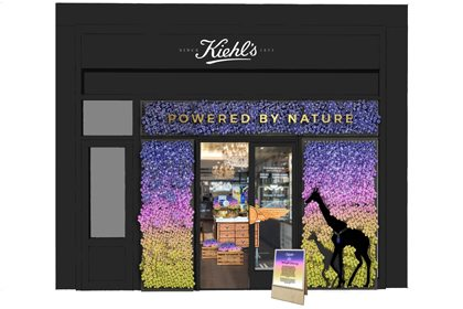 Prop Studios' technical design concept for Kiehl's window display