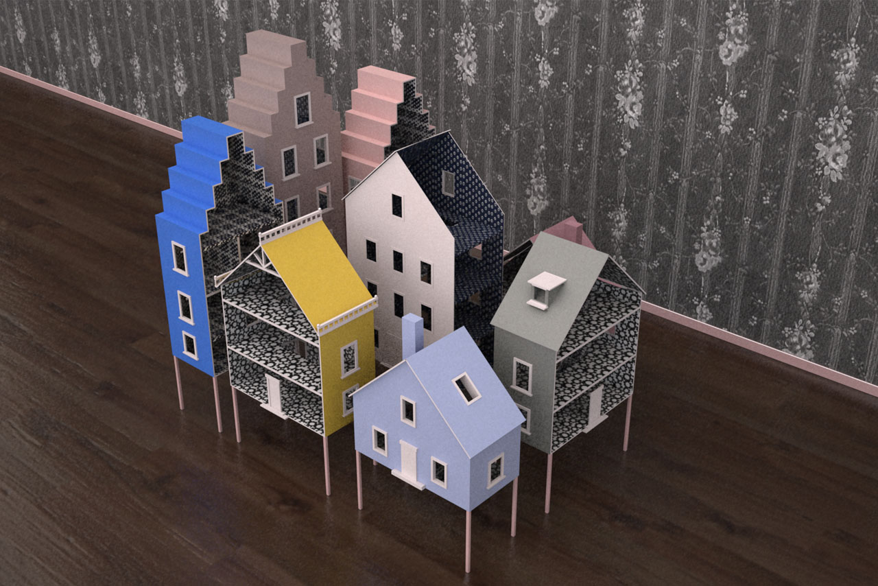 Prop Studios' bespoke dollhouses, created exclusively for Mullberry using their original print designs