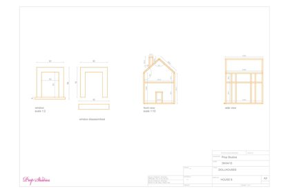 Prop Studios' original blueprints for the miniature dollhouses created exclusively for Mulberry