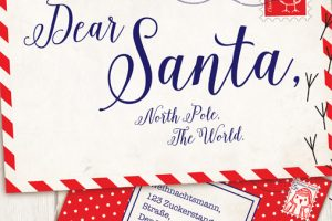 The Prop Studios design team visualized the childhood traditional Christmas, such as these letters to Santa, with a mischievous twist