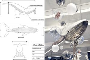 Prop Studios provided imaginative hand-sketched designs, which we later translated into 3D renders and then as technical drawings for manufacture