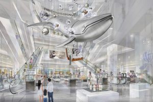 Full image of the interior of the Hyundai store, showing the range of Prop Studios' retail design work