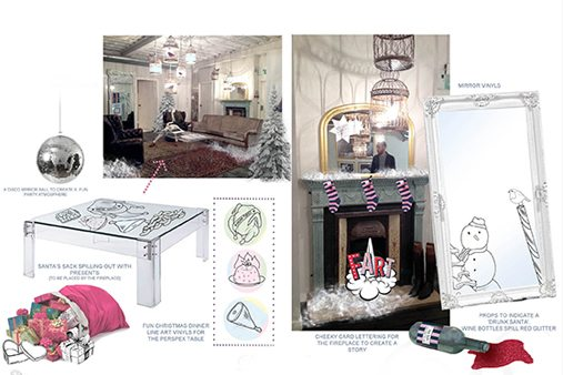 Technical designs and concept outlines for Prop Studios' instore scheme for Jack Wills