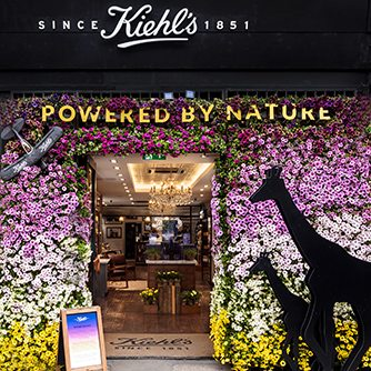 Prop Studio created this window display for Kiehl's as part of Chelsea In Bloom