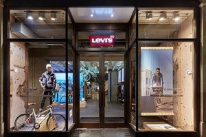Prop Studios' bold installation was the key product focal point in-store for Levi's customers