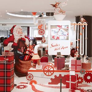 Prop Studios created a complete Christmas instore experience for the customers of South Korea's Hyundai department store