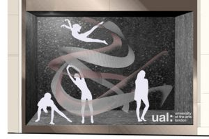 Prop Studios' design sketch showing the initial concept of the Lululemon window
