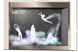 Alternative design concept showing the Prop Studios window design for Lululemon