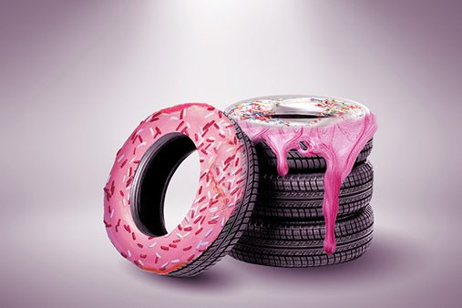 Prop Studios adopted the hyper-connected mindset of the Missguided customer, sharing inspiration through Pinterest and developing a myriad of concepts, including an iced donut tyre installation