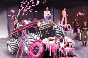 Prop Studios' gigantic pink Missguided Monster Truck sat right at the front of the store, gathering intense attention from footfall in the centre and huge social media coverage