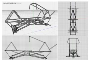 Prop Studios' design for the interior frame and chassis of the monster truck