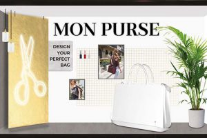 Prop Studios' design presented Mon Purse's fully-customised accessory pieces as pride of place within the studio setting