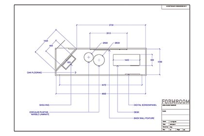 Prop Studios' blueprint for Mon Purse window design layout