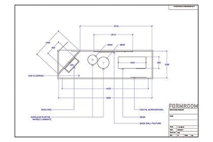 Prop Studios' blueprint for Mon Purse window design layout