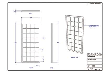 Frame designs for Mon Purse window