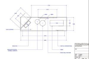 Blueprint showing an aerial view of Prop Studios' design for the Mon Purse retail scheme