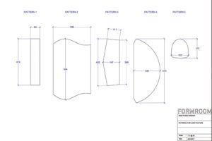 Diagram showing the design of the custom light boxes, constructed by Prop Studios exclusively for Mon Purse