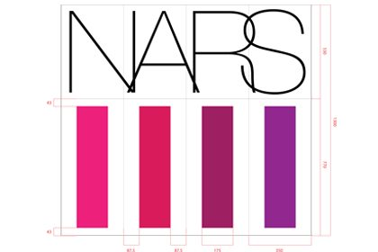 Prop Studios' technical design of the NARS signage within the Selfridges window display