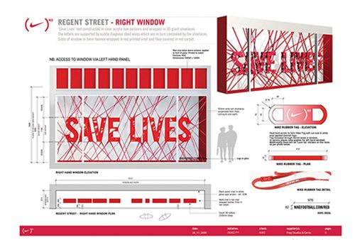 Prop Studios' retail design scheme for Nike's Red campaign won the RVM award for Best In-Store Branding