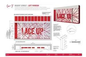 The Nike Red design scheme was a huge project which involved designing, producing and installing all the windows of the brand's Oxford Street store