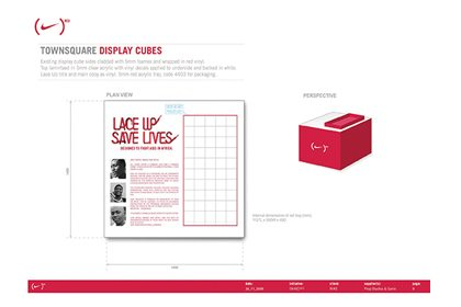 Extract from the Prop Studios design pack, showing the concept for instore display cubes