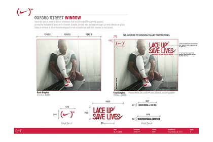 Original design concept for the one of the Niketown store windows, created by Prop Studios